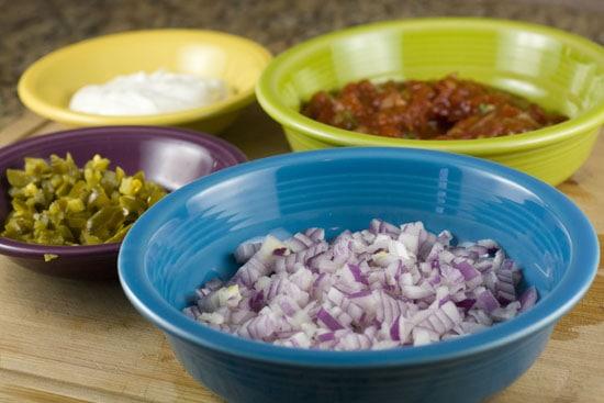 toppings for Rib nachos
