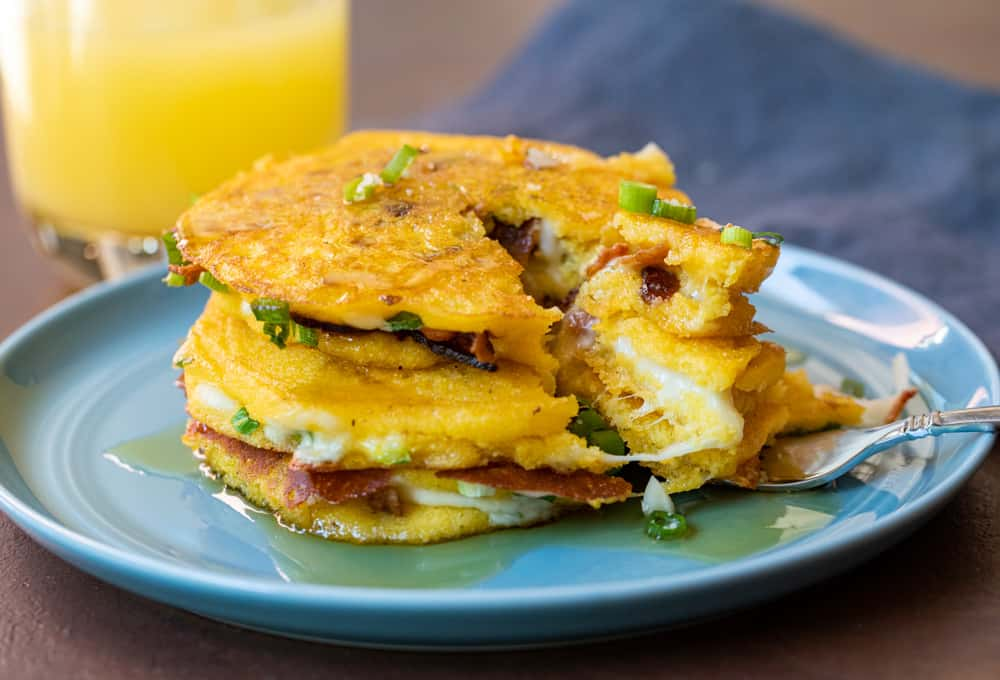 Bacon Stuffed Griddle Cakes
