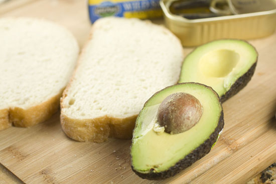 avocado for the Sardine Sandwich