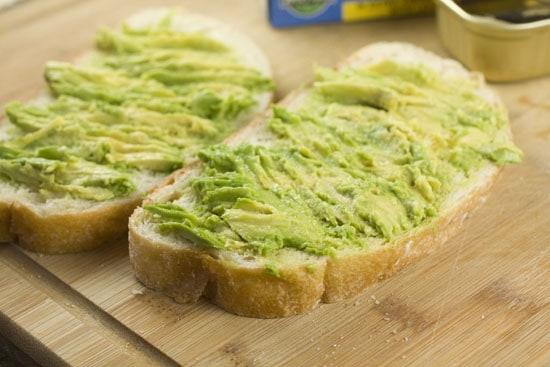 mashed  - Sardine Sandwich