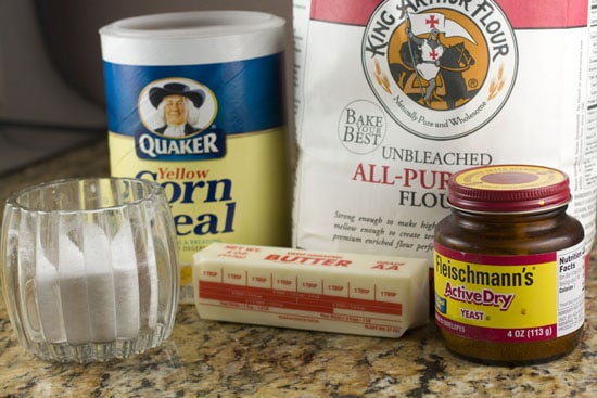 dough ingredients for Cast Iron Breadsticks