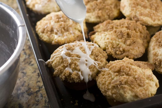 icing on Coffee Cake Muffins