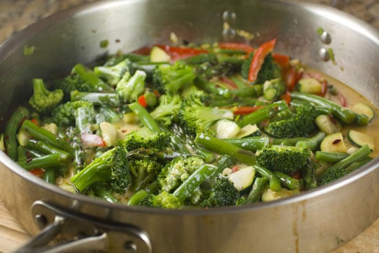 veggies in Homemade Pasta Primavera