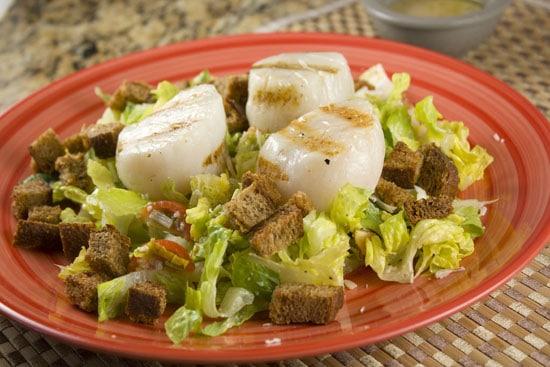 Grilled Scallop Caesar Salad - Macheesmo