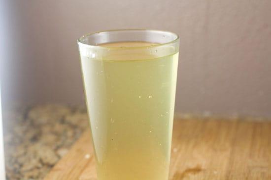 finished syrup for Fresh Basil Lemonade