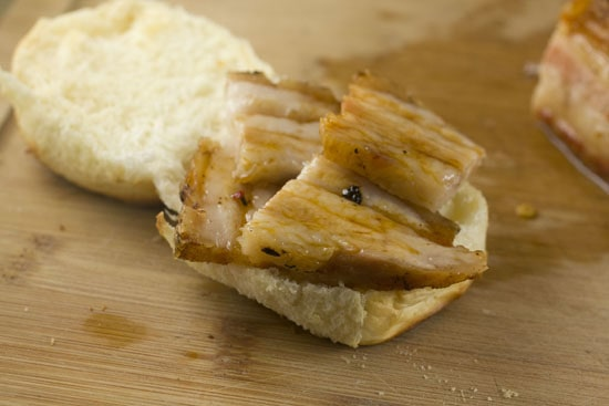 sliced for Pork Belly Sliders