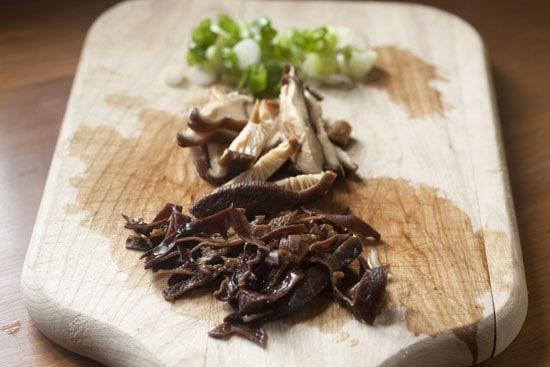 chopped for Mushroom Tofu Noodle Bowls