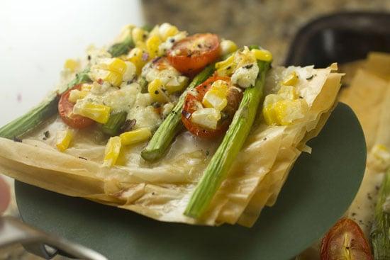 piece - Asparagus Phyllo Tart