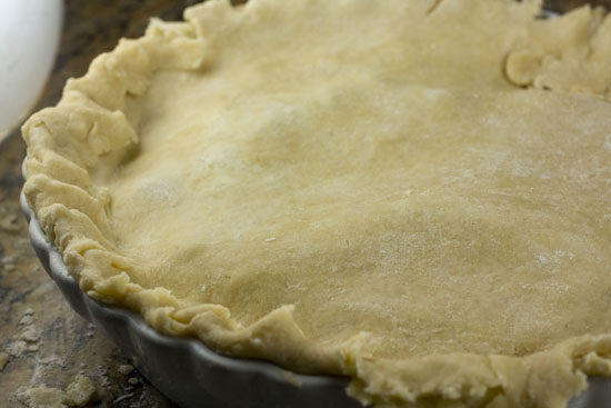 crimped edges - Plum Rhubarb Pie