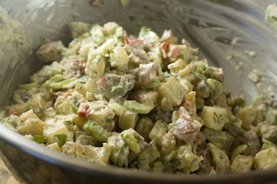 Chimichurri Potato Salad recipe from Macheesmo
