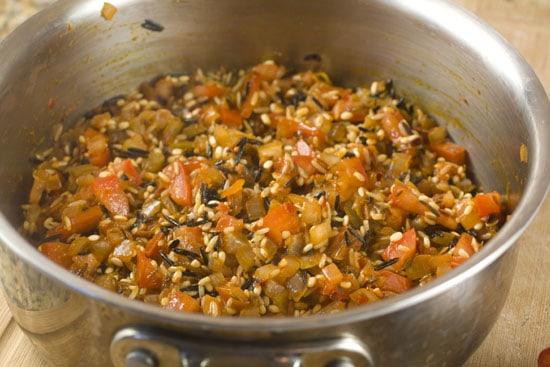 starting Rice Stuffed Poblanos