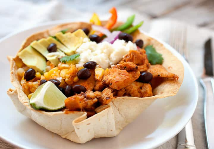 chipotle chicken taco bowls link