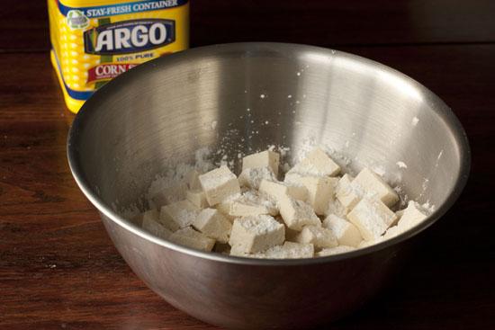 scorn s tarch for Black Pepper Tofu