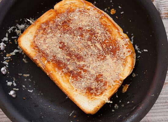 Inside out grilled cheese.