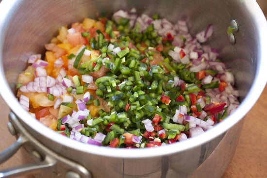 chopped for Roasted Corn Salsa