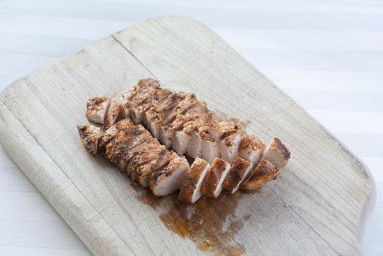 sliced - Chicken Caprese Salad