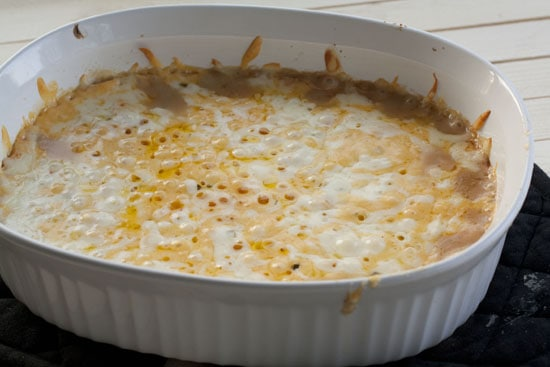 first queso dip bite - Baked Queso Dip