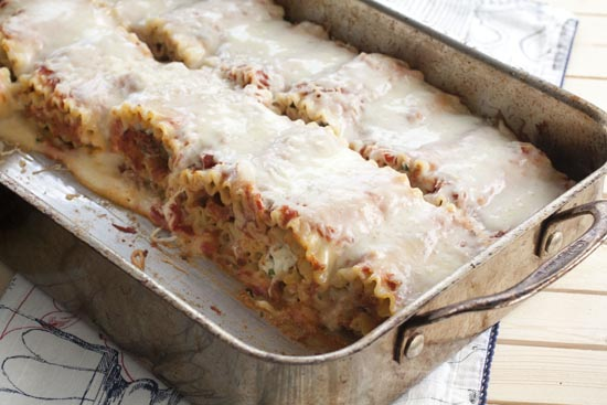 Lasagna Rolls recipe from Macheesmo