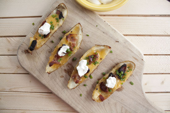 Bacon Potato Skins recipe - Macheesmo