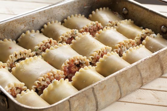 Lasagna Rolls in the pan