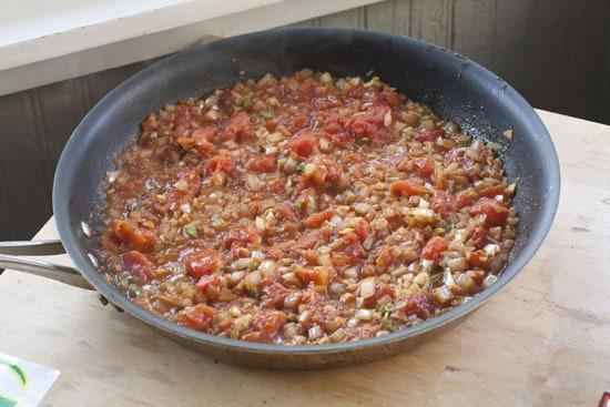 tomato mixture - Saag Paneer