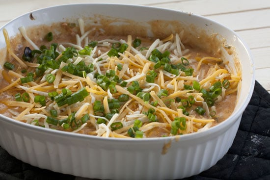 topped Baked Queso Dip