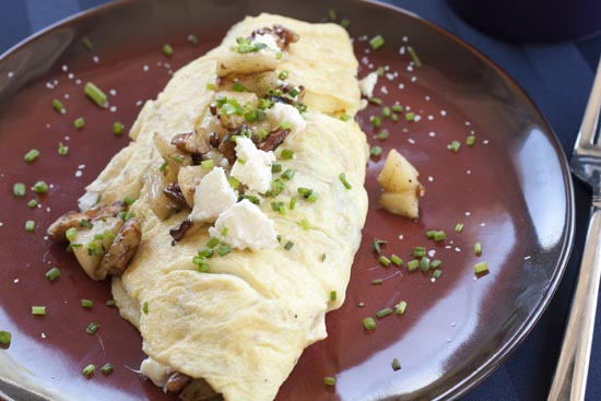Apple Pecan Omelet recipe