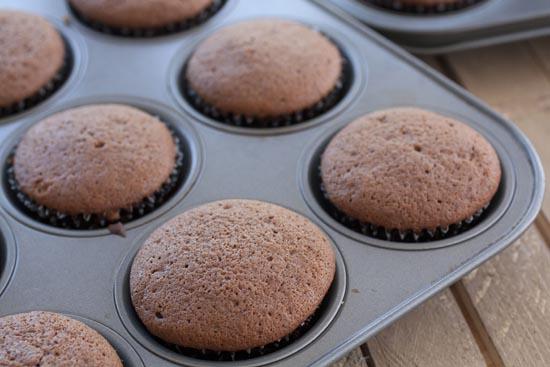 baked Chocolate Orange Cupcakes