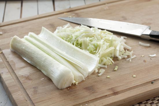 chopped leeks - Wild Rice Salad