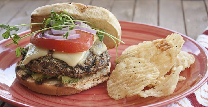 Vegetarian Mushroom Burger Recipe With Swiss Cheese Macheesmo