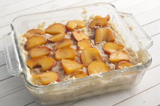ready to bake - Peach Coffee Cake