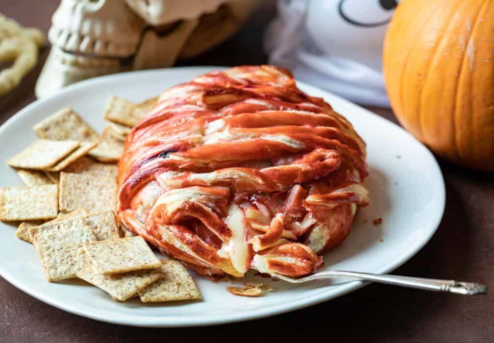 Halloween Baked Brains Appetizer