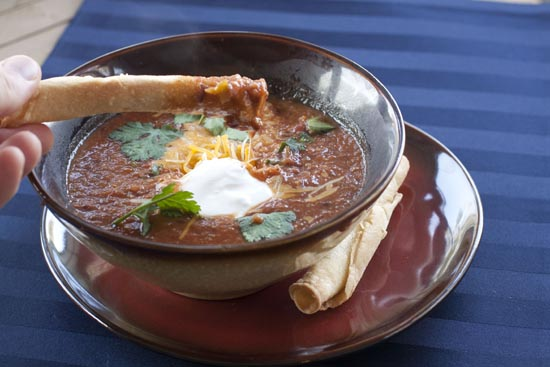 Chipotle Black Bean Soup recipe from Macheesmo