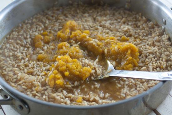 cooking Kabocha Risotto