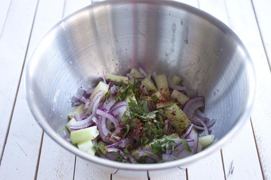 salad for papas rellenas