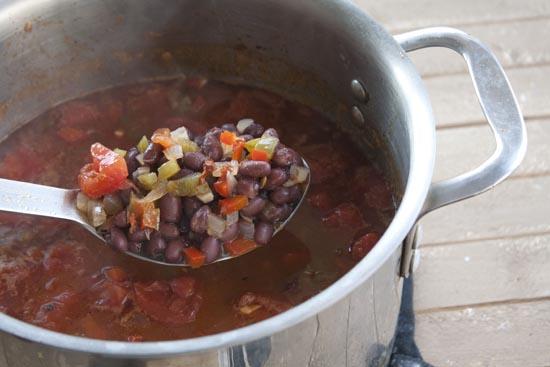 Chunky Chipotle Black Bean Soup
