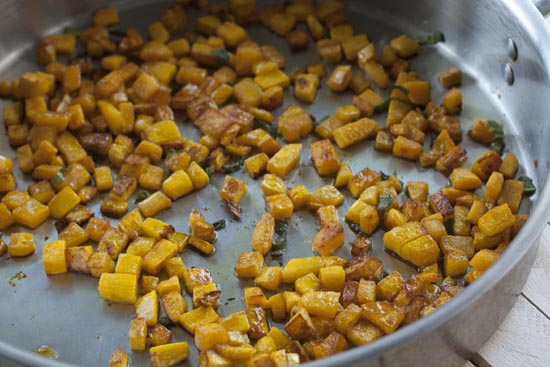 browned squash for Kabocha Risotto