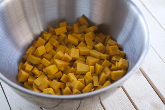 cubed for Kabocha Risotto