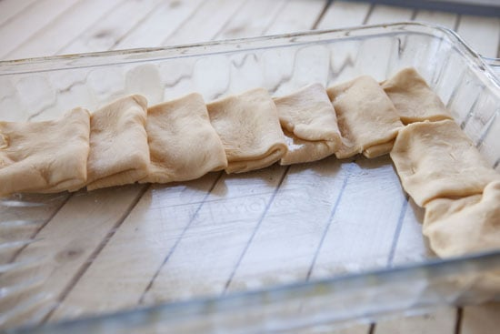 folded Sweet Potato Parker House Rolls