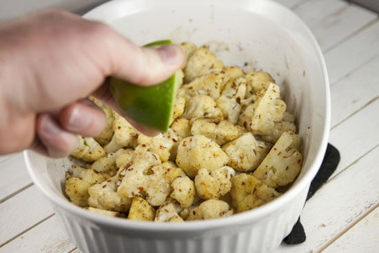 lime - Spicy Roasted Cauliflower
