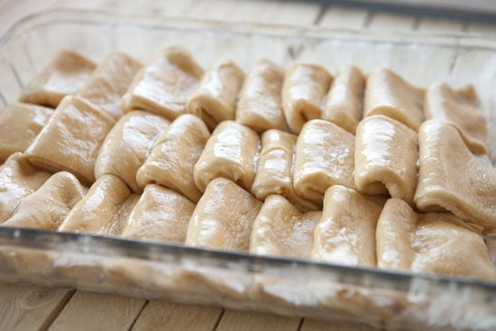 ready to bake - Sweet Potato Parker House Rolls