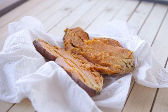 potato for Sweet Potato Parker House Rolls
