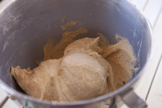 sticky dough - Sweet Potato Parker House Rolls
