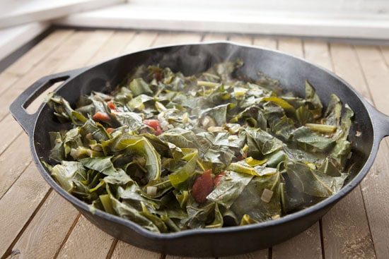 braised Cast Iron Collard Greens