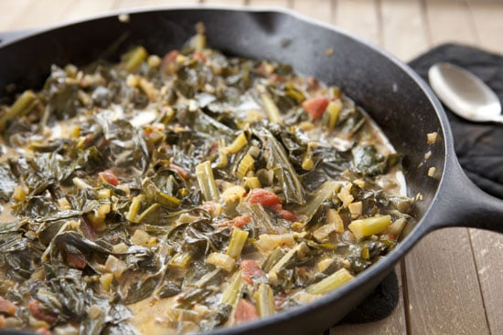 Cast Iron Collard Greens recipe from Macheesmo