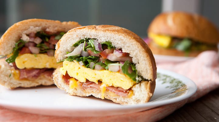 Hard Roll Breakfast Sandwiches