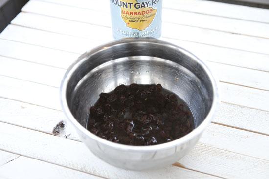 soaked for Rum Raisin Cookies