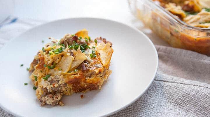 tortilla breakfast casserole
