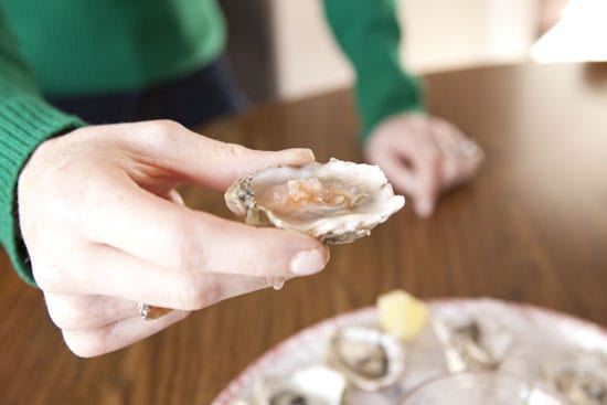 oysters with Mignonette Sauce from Macheesmo