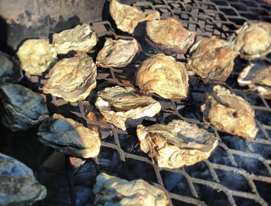smoked oysters and Mignonette Sauce